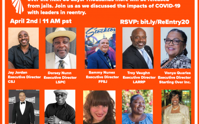 Th, Apr 2 — The State of Reentry Virtual Town Hall