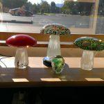 Blown Glass Mushroom Paperweights Decorations