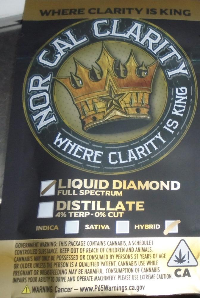 Nor Cal Clarity Liquid Diamonds Atomizer Redding 420